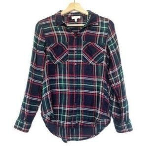 Lucky Brand (S) Red Plaid Long Sleeve